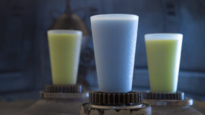SWGE Blue Milk and Green Milk at Milk Stand 1023ZS 0174DR 300x169 - Star Wars: GalaxyÕs Edge ÐMilk Stand