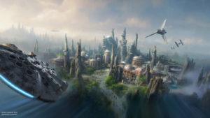 SWGE Concept Art Aerial 8 15 WDI 003 2 300x169 - Star Wars: GalaxyÕs Edge